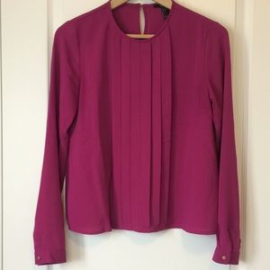 Forever 21 pink long sleeve blouse